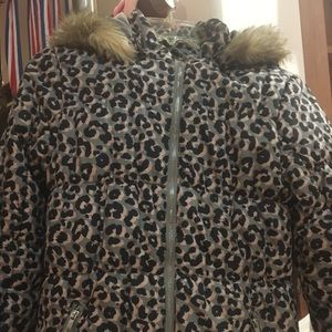 H&M kids animal prints Padded hoodie Jacket